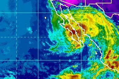 Tropical Storm Lidia forms south of Mexico's Baja California