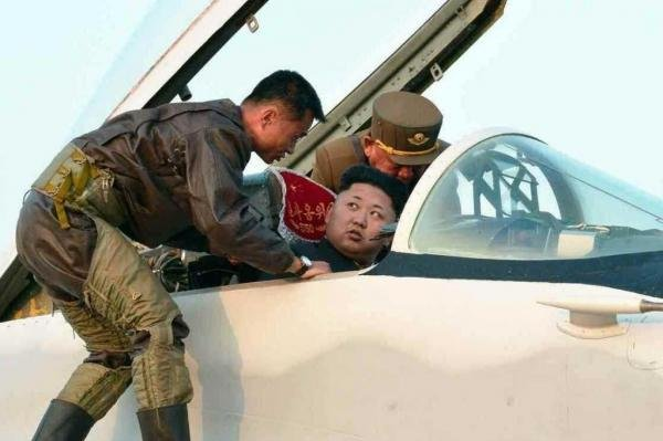Kim Jong Un during an airfield inspection in 2014. The North Korean leader is expected to attend a tournament of North Korean pilots, according to Seoul government sources. File Photo by KCNA