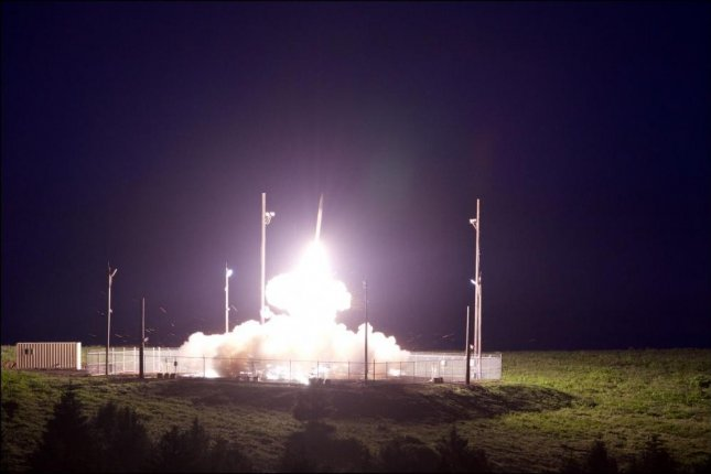 A Terminal High Altitude Area Defense interceptor is launched from the Pacific Spaceport Complex Alaska in Kodiak, Alaska, during Flight Test. Photo by Leah Garton/Missile Defense Agency