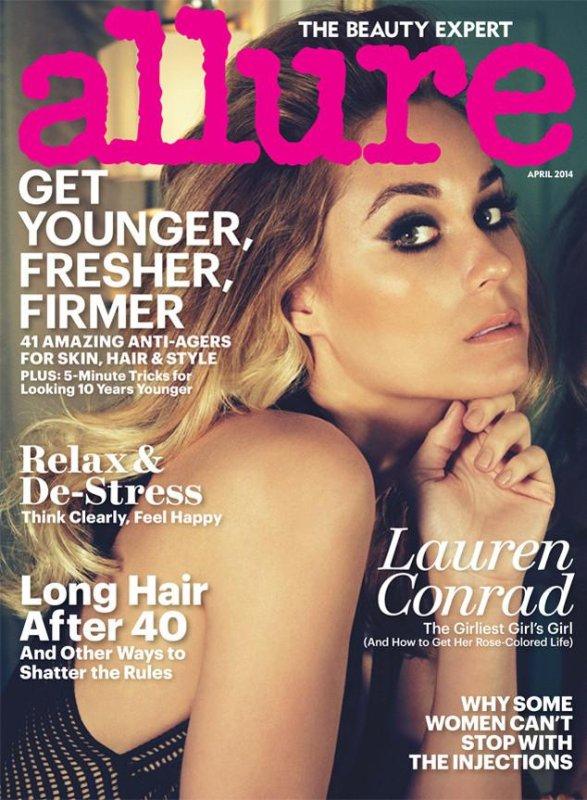 Lauren Conrad on the cover of Allure's April 2014 issue. (Allure)