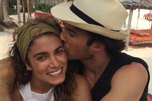 Ian Somerhalder (R) and Nikki Reed married in late April. Instagram/Nikki Reed