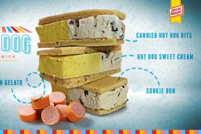 Oscar Meyer's ice cream sandwich includes bits of candied hot dog meat