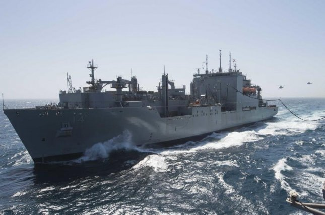 The USNS Cesar Chavez is a Lewis and Clark-class dry-cargo and ammunition delivery ship that carries food, spare parts, ammunition, small quantities of fuel and other stores to ships at sea. U.S. Navy photo