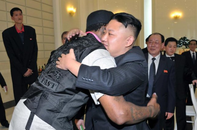 Former NBA player Dennis Rodman met with Kim Jong Un in February 2013, but may have not met with Kim in his ongoing trip to North Korea. File Photo courtesy of KCNA/EPA