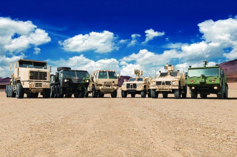 Oshkosh Defense was awarded a $476. 2 million contract to build its 15 types of Family of Medium Tactical Vehicles for the U.S. Army. Photo courtesy of Oshkosh Defense
