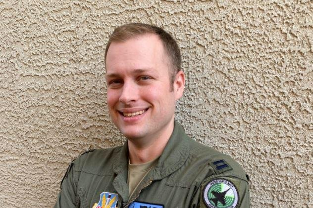 Capt. Aaron Tindall is the first U.S. Air Force pilot to graduate from the U.S. Navy's Airborne Electronic Attack weapons school. Photo courtesy of U.S. Air Force