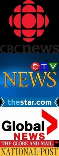 Canada's major news distributors all rely on one agency, the Canadian Press, as their principle national information provider.