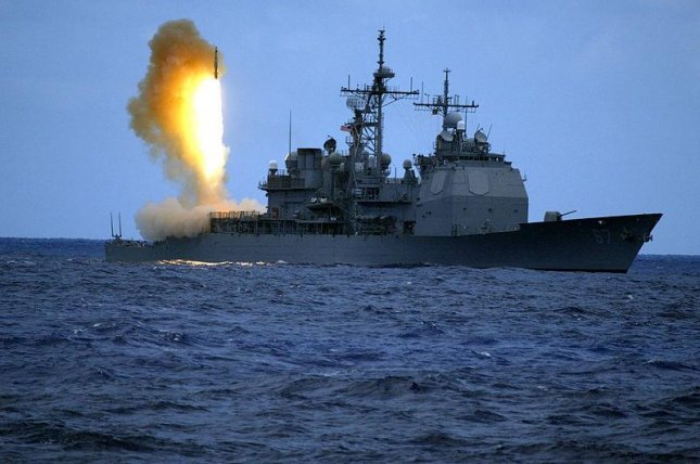 A Standard Missile Three (SM-3) is launched from the guided missile cruiser USS Shiloh (CG 67) during a joint Missile Defense Agency, U.S. Navy ballistic missile flight test. Two minutes later, the SM-3 intercepted a separating ballistic missile threat target, launched from the Pacific Missile Range Facility, Barking Sands, Kauai, Hawaii. The test, conducted on June 22, 2006, was the seventh intercept, in eight program flight tests, by the Aegis Ballistic Missile Defense. The maritime capability is designed to intercept short to medium-range ballistic missile threats in the mid-course phase of flight. (U.S. Navy)