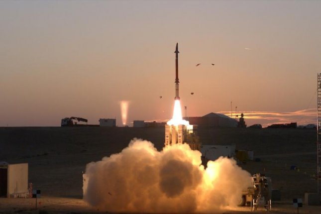A missile launch during testing of the David's Sling weapon system. U.S. Missile Defense Agency photo