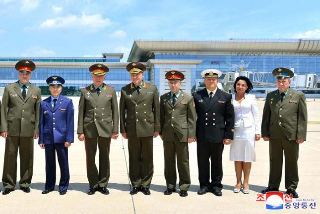 A Russian military delegation arrived in Pyongyang on Wednesday for discussions with North Korea. Photo by KCNA