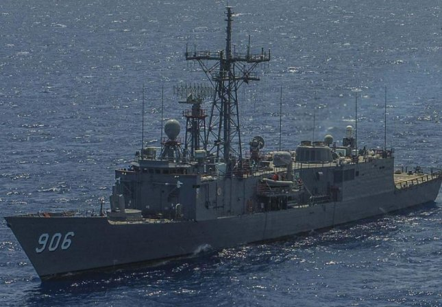 The U.S. State Department announced a determination to $554 million in technical support for the Egyptian Navy on Tuesday, including maintenance support of the U.S.-made frigate EMS Touchka. Photo by MCS2 James Turner/U.S. Navy/UPI
