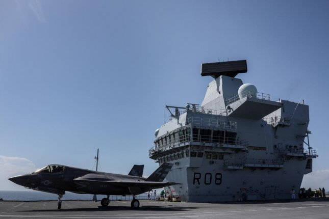 Two F-35B Lightning II fighter jets successfully landed onboard HMS Queen Elizabeth for the first time on Nov. 19, 2018. Photo by Lt. Cmdr. Lindsey Waudby/Royal Navy