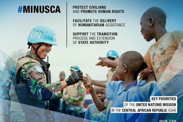 The United Nations Multidimensional Integrated Stabilization Mission in the Central African Republic assumed responsibility for peacekeeping from the African Union on September 14, 2014. (Twitter/MINUSCA)