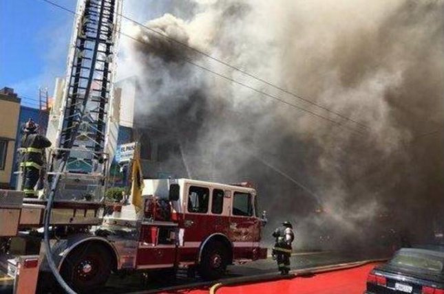 More than 150 firefighters battled a five-alarm fire in San Francisco's Mission District on Saturday. Photo courtesy San Francisco Fire Department