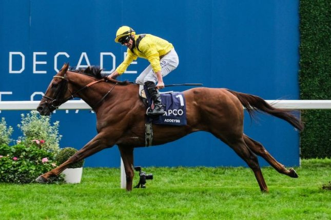 Addeybb wins Saturday's Group 1 QIPCO British Champions Stakes. Photo courtesy of Ascot Racecourse