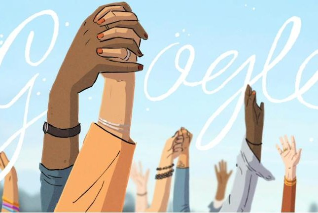 Google is commemorating International Women's Day 2021 with a new Doodle by Helene Leroux. Image courtesy of Google