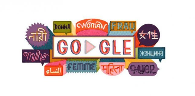 Google is celebrating International Women's Day 2019. Photo courtesy of Google