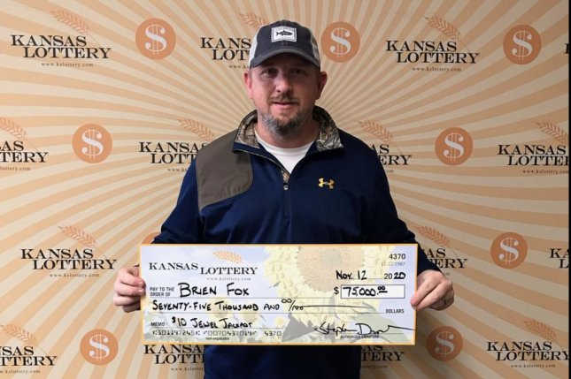 Brien Fox, of Tennessee, said he ended up buying a ticket for a game other than the one he wanted and won $75,000. Photo courtesy of the Kansas Lottery