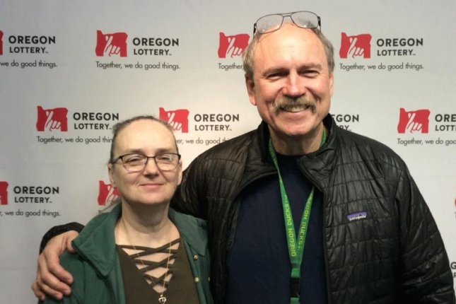 An Oregon couple said their lack of experience playing the lottery paid off when some confusion at check-out led them to a $150,000 jackpot. Photo courtesy of the Oregon Lottery