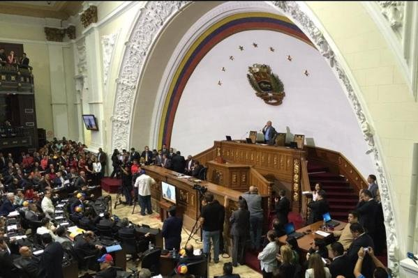 Venezuela's opposition-controlled National Assembly, seen here during session earlier this year, was effectively stripped of power after elections late last year. Catholic Church leadership in the South American country said the political crisis in Venezuela represents a real situation of dictatorship. Photo courtesy of María Corina Machado