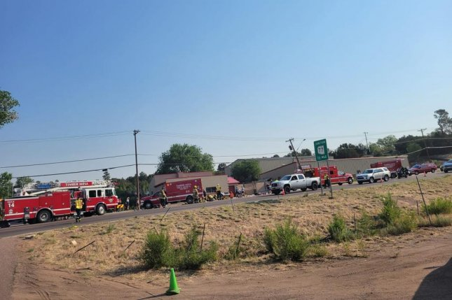 Six people were critically injured after a man hit multiple people with a truck during a bike race in Arizona. Photo by Timber Mesa Fire and Medical District/Facebook