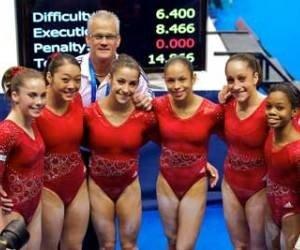 USA Gymnastics line-up for finals at 2011 World Championship. Courtesy of usagym.org {http://usagym.org/pages/post.html?PostID=8793&prog=pb}