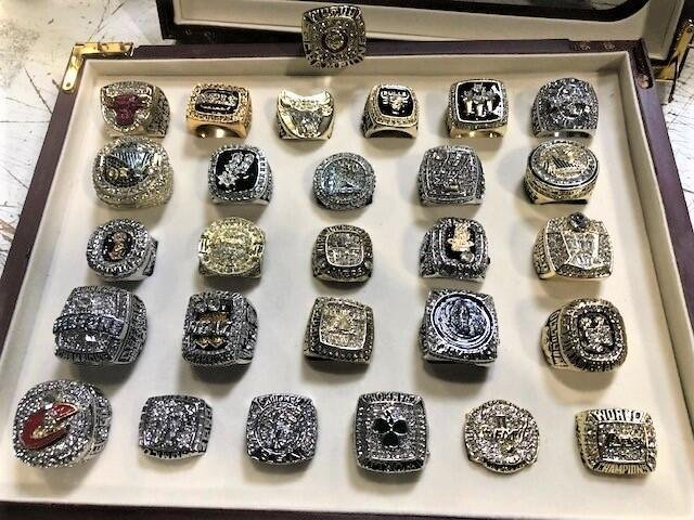 Customs officers in Los Angeles seized 28 counterfeit NBA championships from a shipment that arrived in China and was destined for Arizona. Photo courtesy of U.S. Customs and Border Protection