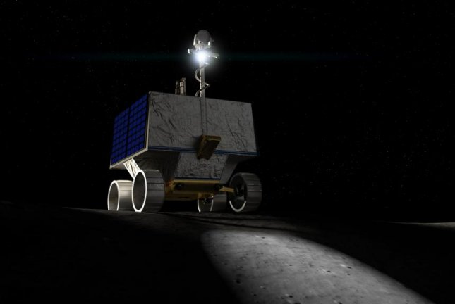 NASA's VIPER rover will spend 100 days scanning and drilling for water on the moon's south pole. Photo by NASA Ames Research Center