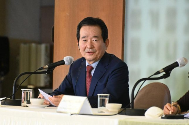 South Korean Prime Minister Chung Se-kyun told foreign reporters on Friday that the country was still facing a long fight ahead with COVID-19. Photo by Thomas Maresca/UPI