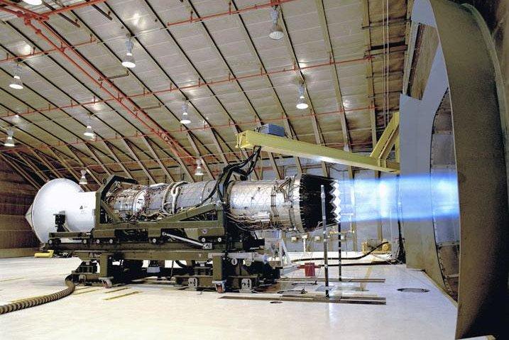 Pratt & Whitney tests its F135 engine. Department of Defense photo