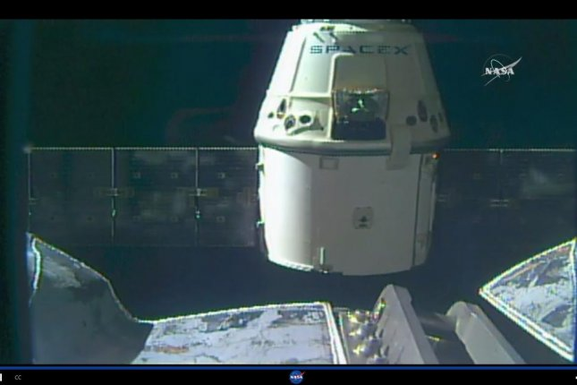 NASA Television's live coverage of the Dragon's return trip featured views of the cargo vessel as it was released from the ISS port. Photo by NASA Television