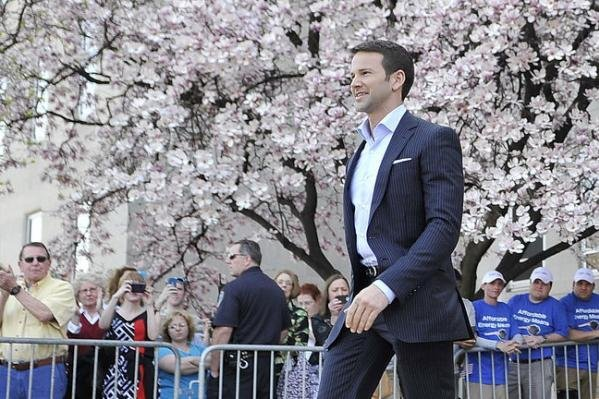 Former Illinois Rep. Aaron Schock was indicted on 24 criminal charges Thursday that include wire fraud, theft of government funds and making false statements. The charges stem from allegations that he defrauded the government for personal benefit. File Photo courtesy Brian Kersey/UPI