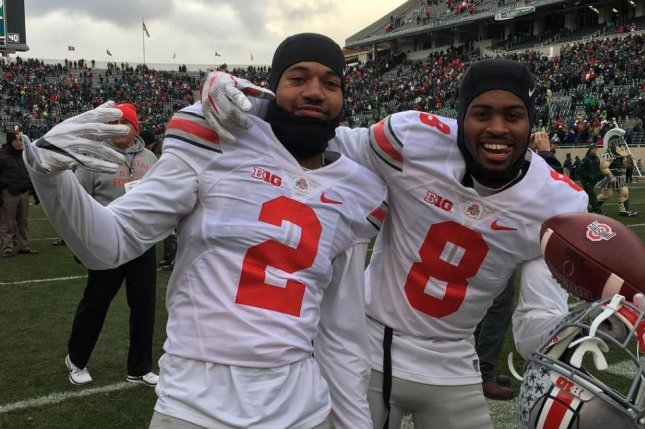 Former Ohio State defensive backs Marshon Lattimore and Gareon Conley (R) were expected to be first round selections in Thursday's 2017 NFL Draft. Conley now says he will not attend. Photo courtesy of Ohio State Football/Instagram