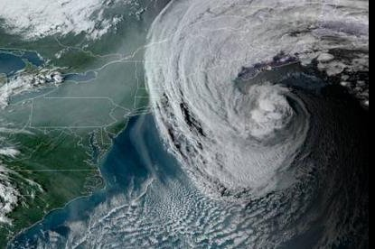 The powerful Hurricane Teddy is forecast to hit Atlantic Canada later this week. Image courtesy of NOAA