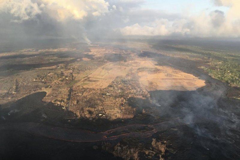 The U S Geological Surveys Hawaiian Volcano Observatory Said A Flyover Thursday Morning Showed Lava Overtook A Charter School And Park