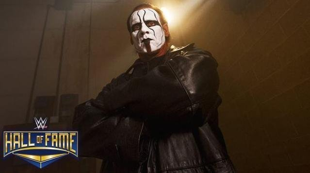 Legendary professional wrestler Sting will be inducted into WWE's Hall of Fame class of 2016 the company announced Monday. Sting is the first wrestler to be announced for the Hall of Fame class of 2016. Photo courtesy of WWE/Twitter