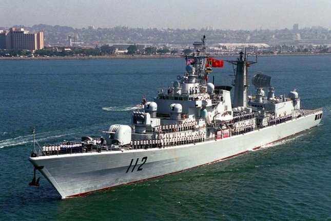 The People's Liberation Army Navy plans to replace the Type 052, pictured, with the new Type 055. Photo courtesy of the Defense Imagery Management Operations Center