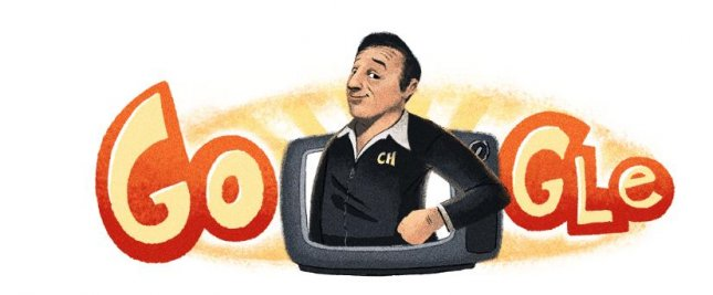 Google is paying homage to comedian and entertainer Chespirito with a new Doodle. Image courtesy of Google