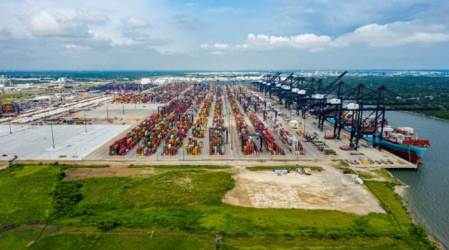 The Port of Houston was the target last month of a nation-state's cyberattack. Photo courtesy of Port of Houston Authority