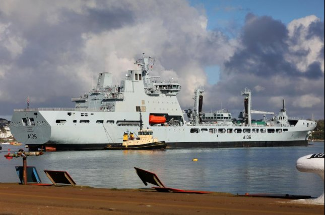 Britain's Royal Navy plans to customize four Tide-class tanker ships at its shipyard in Falmouth, with customization set to start soon. U.K. Royal Navy photo by LPhot Ken Gaunt