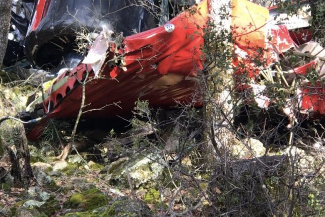 Police said the wreckage from the plane crash was located in a back yard. Photo courtesy of the Placer County Sheriff's Office