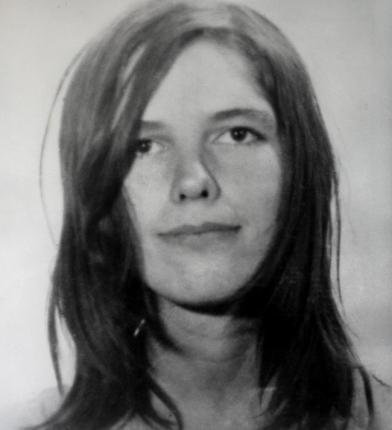 Leslie Van Houten's 1969 Los Angeles County Sheriff mugshot after a police raid on the Manson Family ranch. Van Houten, now 66, was recommended for parole by a California state parole board but the recommendation was denied by governor Jerry Brown.