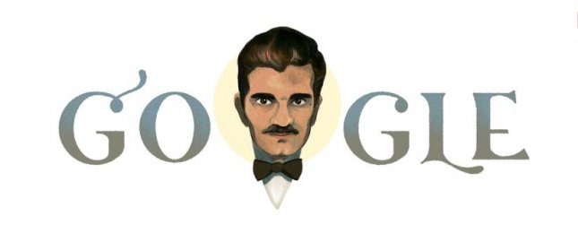 Google is paying homage to Lawrence of Arabia star Omar Sharif with a new Doodle. Image courtesy of Google