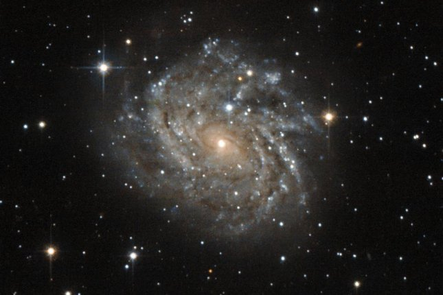 Galaxy J04542829-6625280, more commonly called LEDA 89996, is the perfect example of a spiral galaxy. Photo by Hubble/NASA