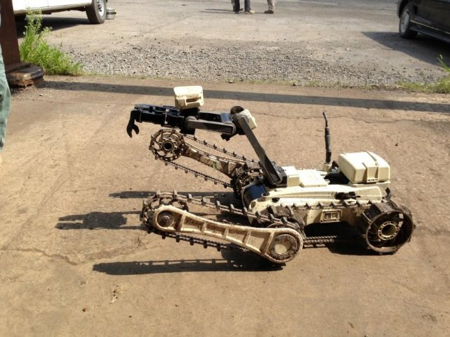 A ground robot designed by Roboteam used in counter-mine, counter-IED missions. Photo: Roboteam.