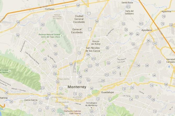 San Nicolas de los Garza in Mexico. Screenshot: Google Maps