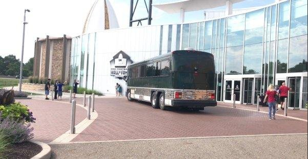The original John Madden bus has made its way to the Hall of Fame. Photo courtesy of the Pro Football Hall of Fame/Twitter