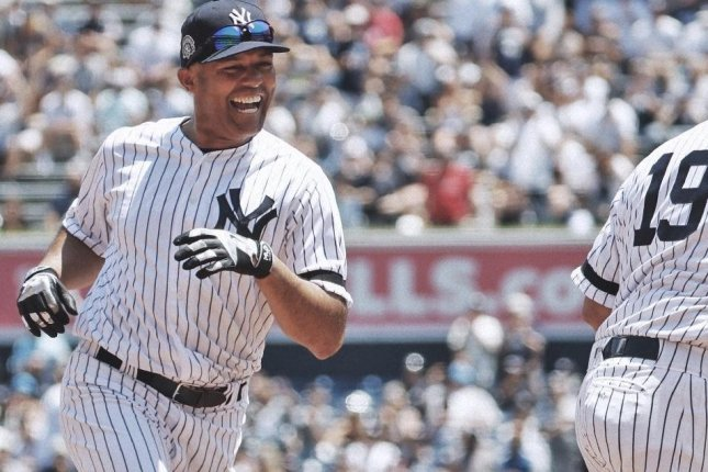 Former Yankees closer Mariano Rivera played in his first Old-Timers' Day on Sunday. Photo by Yankees/Twitter