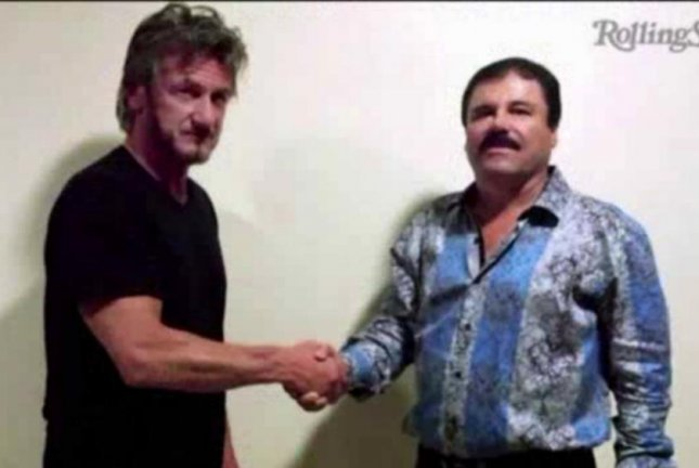 The owners of the Barabas botique in Los Angeles said sales of this shirt have skyrocketed since Joaquin El Chapo Guzman was photographed wearing it during a meeting with actor Sean Penn. WGN-TV video screenshot