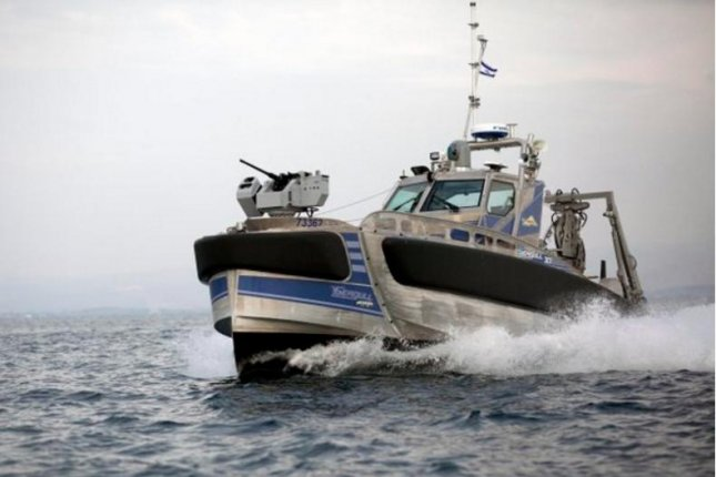 Elbit's Seagull is a 12-meter unmanned surface vehicle that can be controlled from ships or the shore using a single mission control system. Photo by Elbit Systems/Twitter.